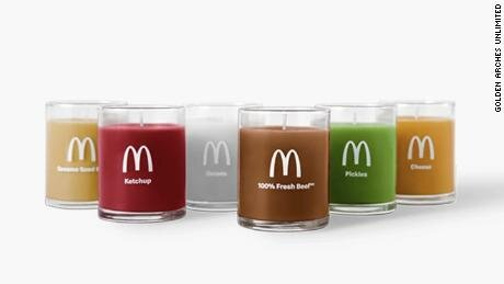 McDonald's Scented Candles - Now your home can smell like a Quarter Pounder!